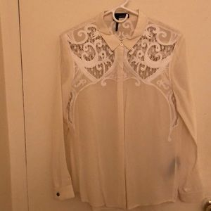The Kooples Blouse - white with lace detailing